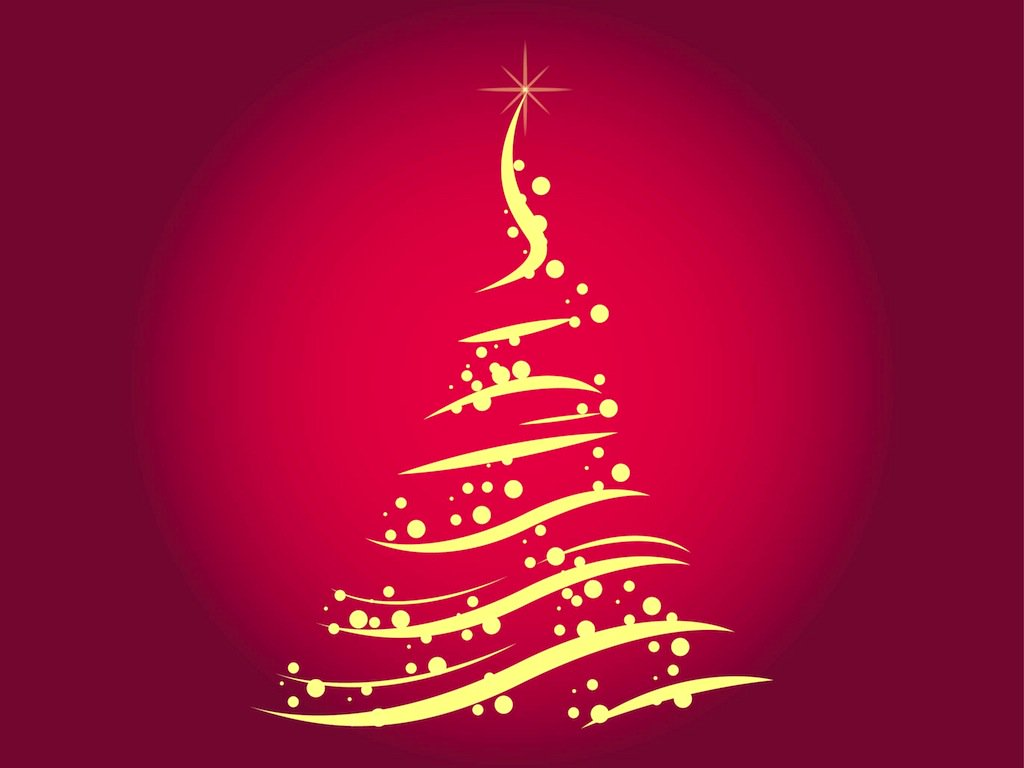 1024x768 Free Christmas Tree Vector Vector Art amp Graphics