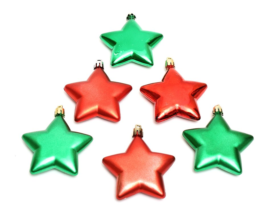 958x760 Ornaments Free Stock Photo Red and green star shaped Christmas