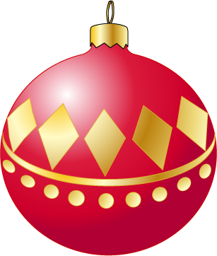 307x362 Christmas Ornaments Clipart Red