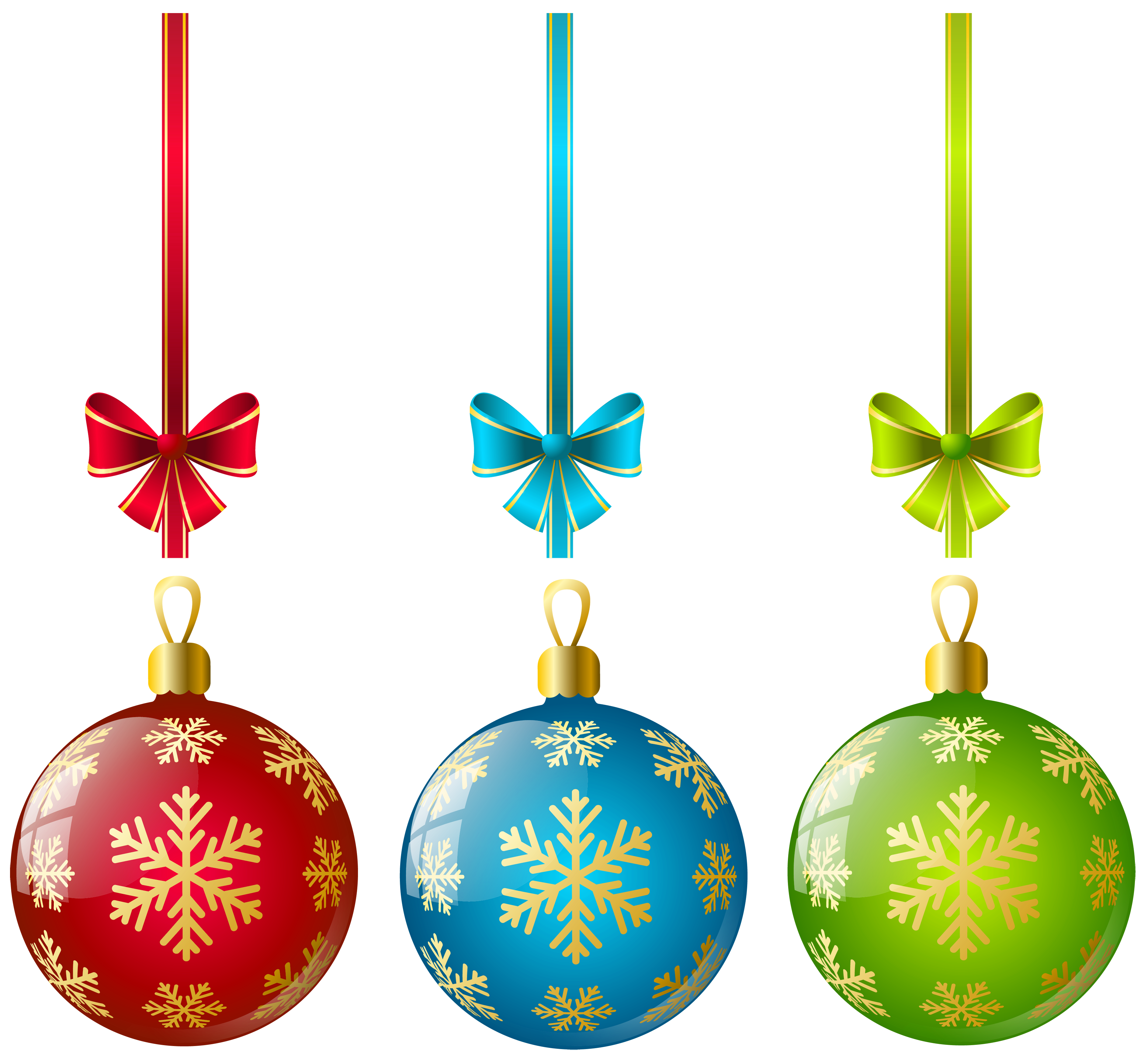 3775x3487 Large Transparent Three Christmas Ball Ornaments Clipart