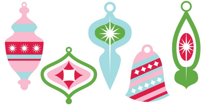 700x366 Vintage Christmas Ornaments Clip Art