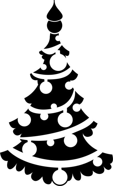 394x650 Christmas Ornament Christmas Silhouettes Clip Art Merry