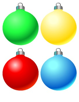 270x350 Christmas Ornaments Clipart Colorful