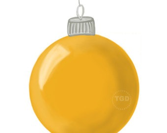 340x270 Christmas Ornaments Clipart Yellow Pencil And In Color Christmas