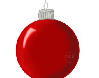 340x270 Christmas Ornaments Clipart Red