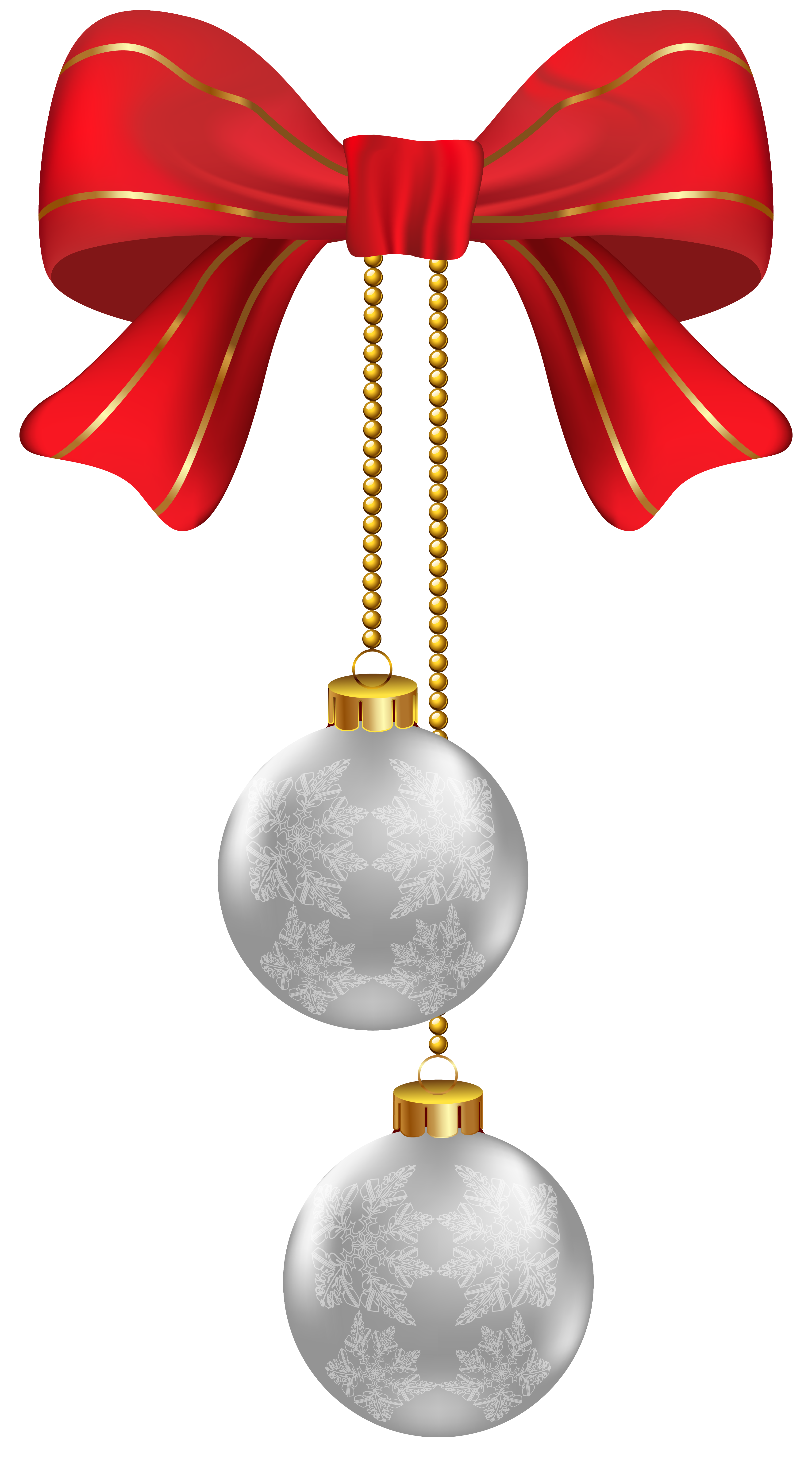3459x6242 Hanging Christmas Silver Ornaments Png Clipart Imageu200b Gallery