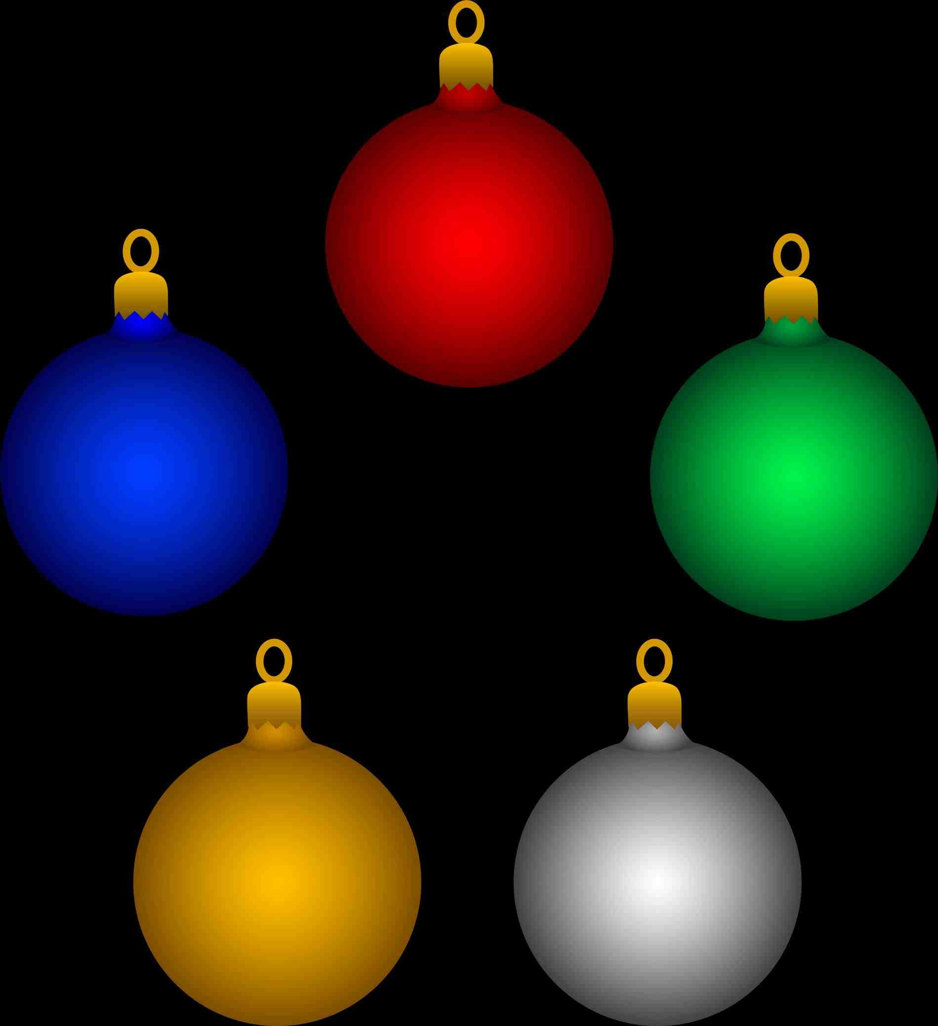 1899x2077 Gold Christmas Ornaments Clipart Cheminee.website
