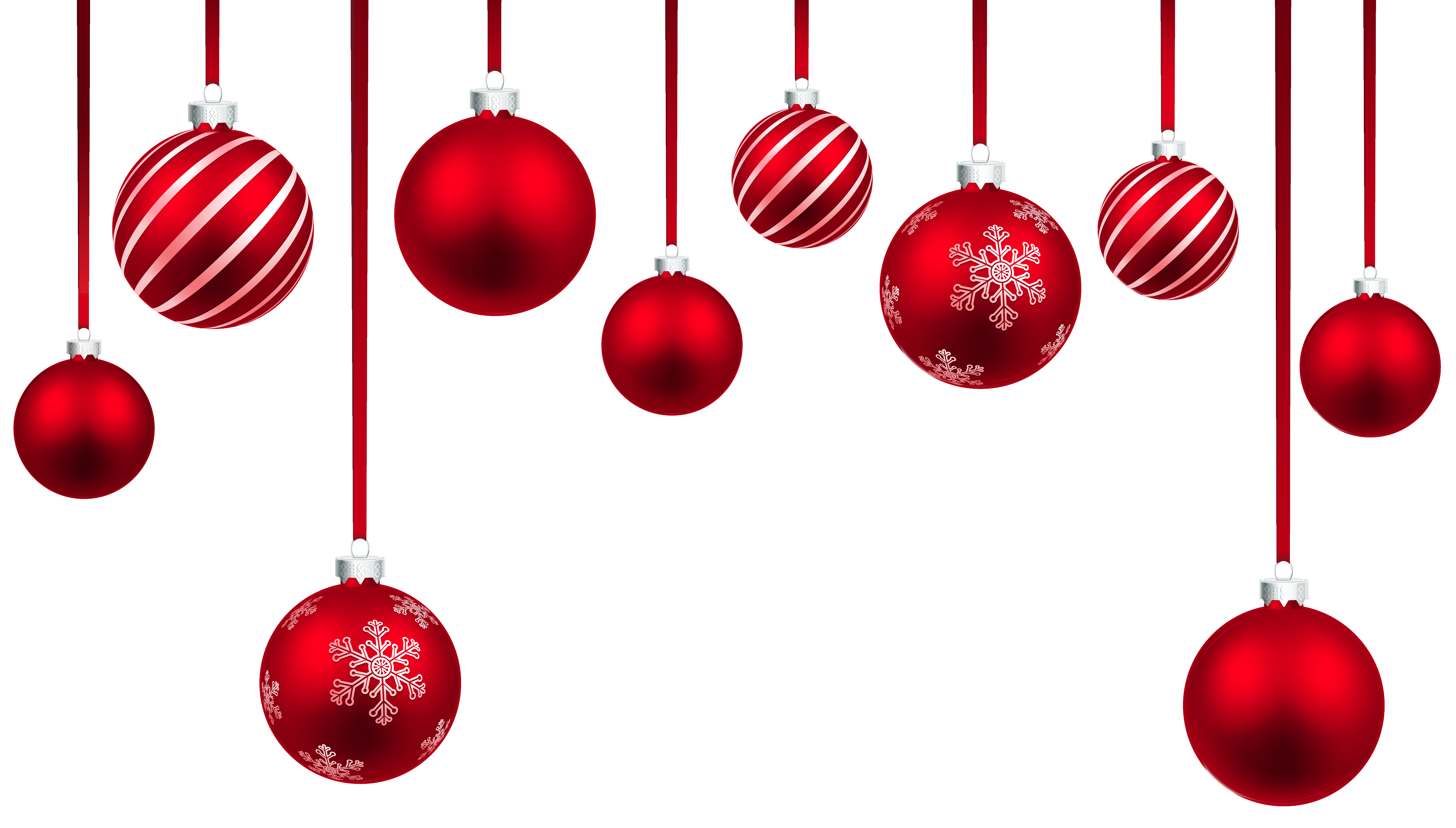 6303x3584 Hanging Christmas Ornaments Clipart Fun For Christmas