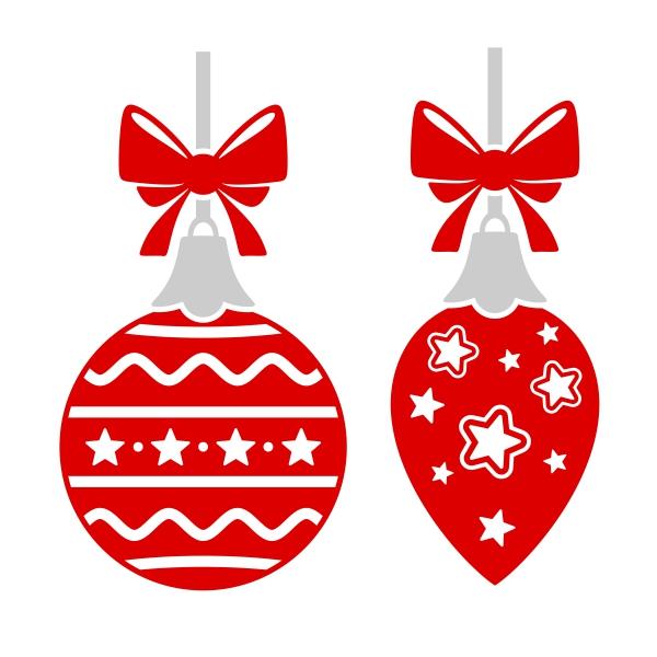600x600 Merry Christmas Ornament Cuttable Design
