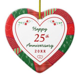 324x324 25th Anniversary Ornaments Amp Keepsake Ornaments Zazzle
