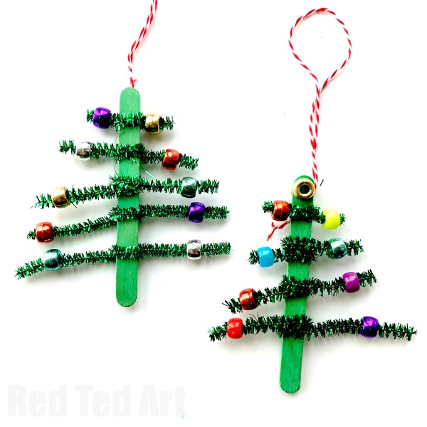 600x600 Pipecleaner Christmas Tree Ornaments