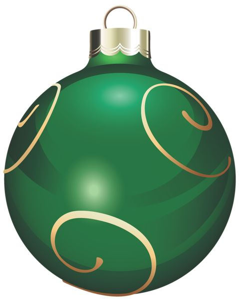 483x600 Red And Green Christmas Ornaments Clipart