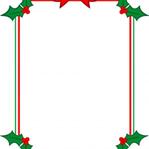 Christmas Page Border Clipart