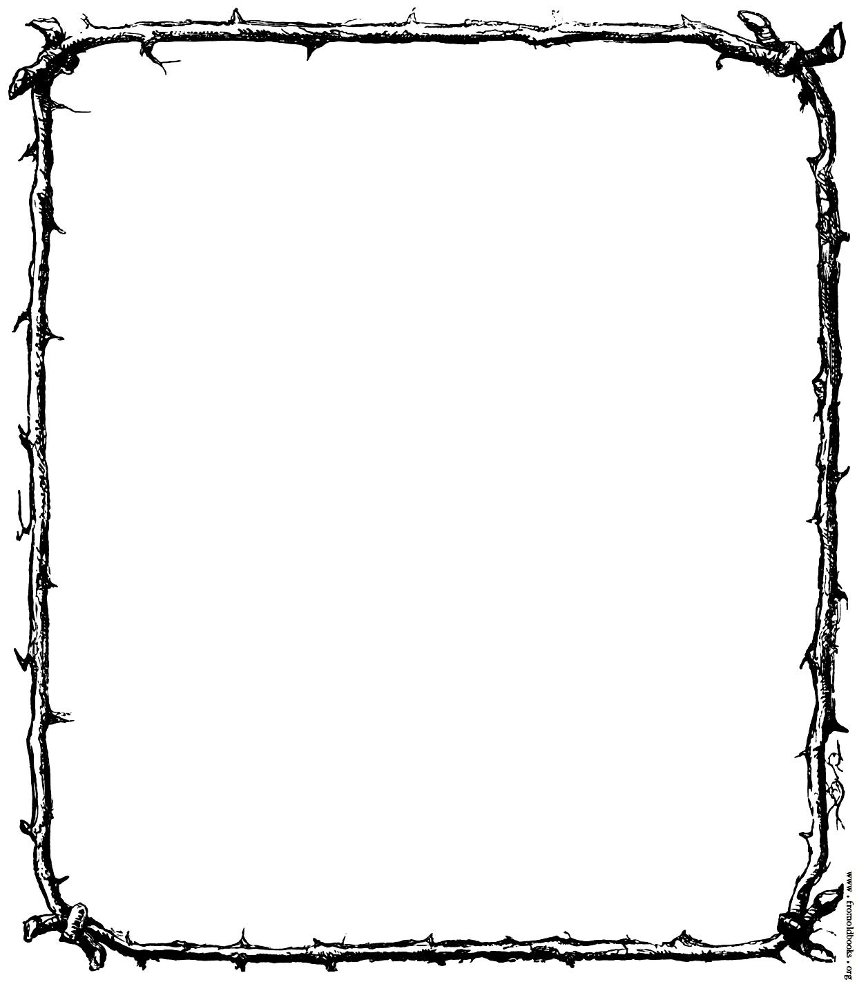 1241x1421 Free christmas clip art borders black and white