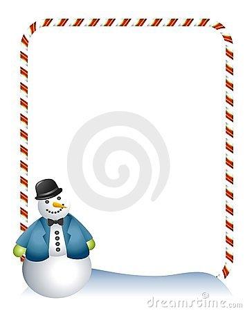 354x450 Snowman border clip art free clipart