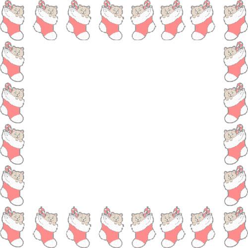 500x500 Border Christmas Stocking Clip Art – Merry Christmas amp Happy New