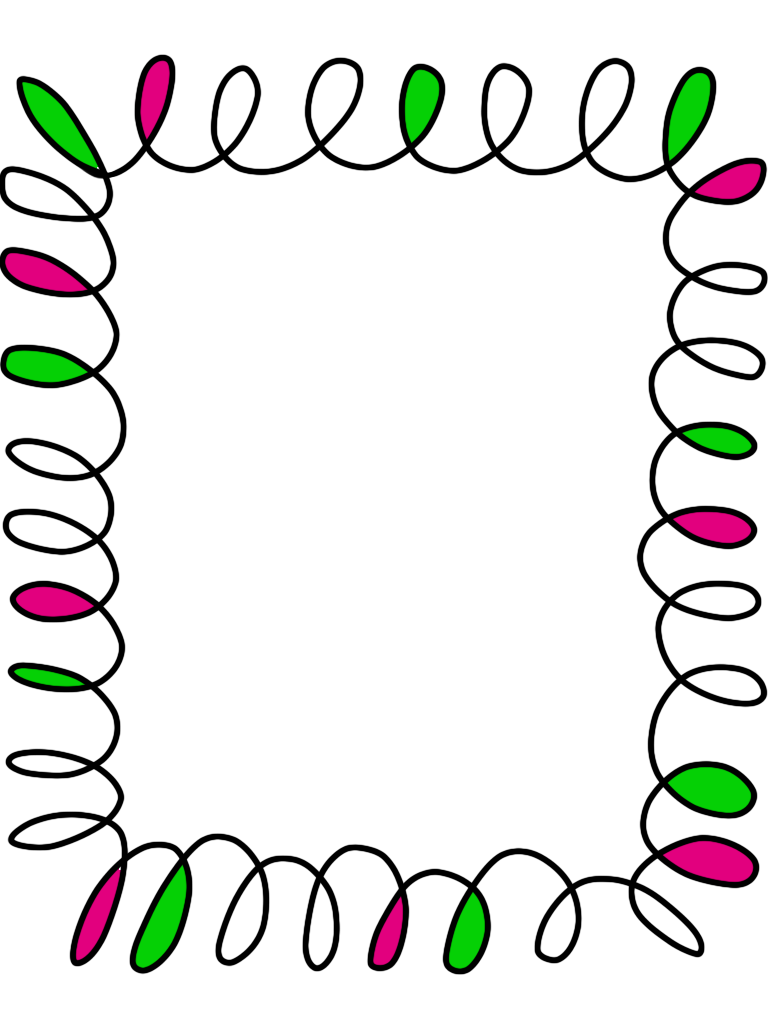 768x1024 Border Clipart For Word