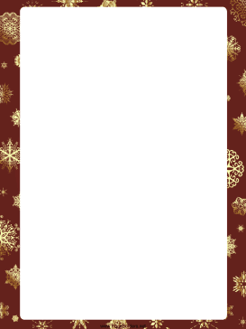 273x364 Snowflakes Christmas Border.png  Page Borders Templates For Microsoft Word