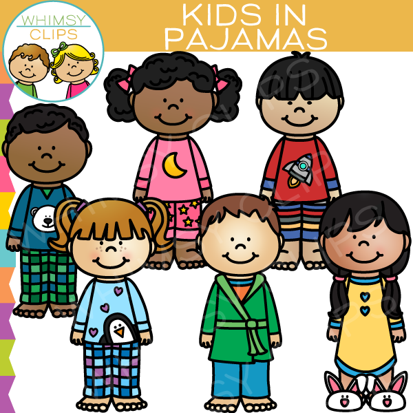 600x600 Kids In Pajamas Clip Art , Images Amp Illustrations Whimsy Clips