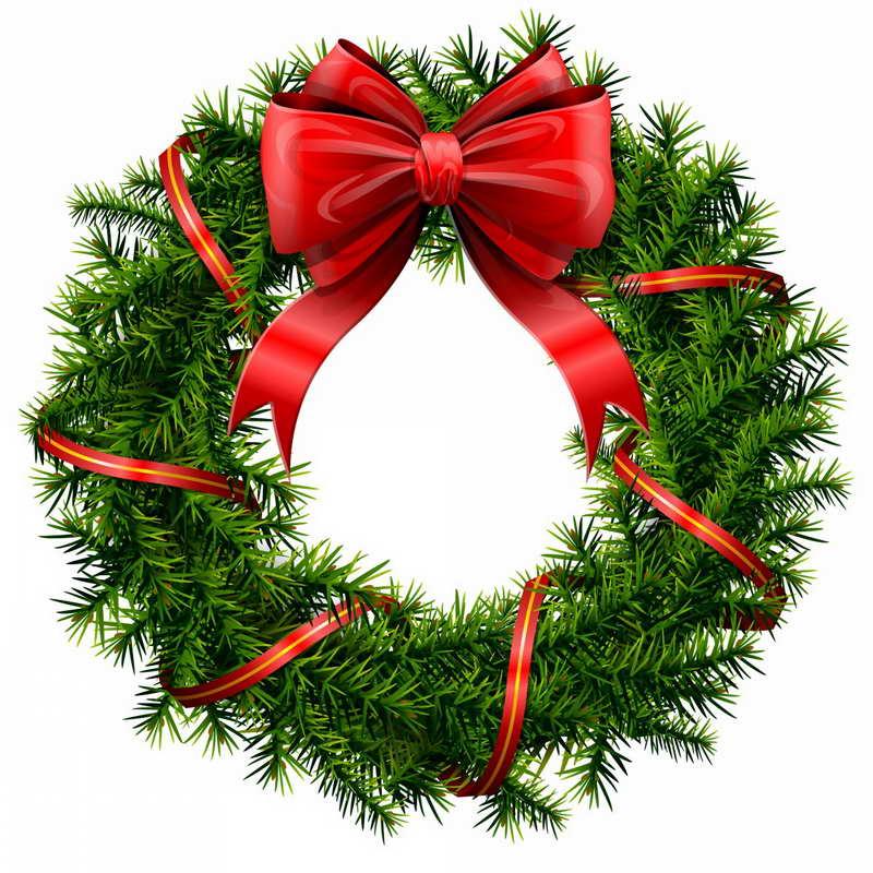 800x800 Christmas Wreath Clip Art