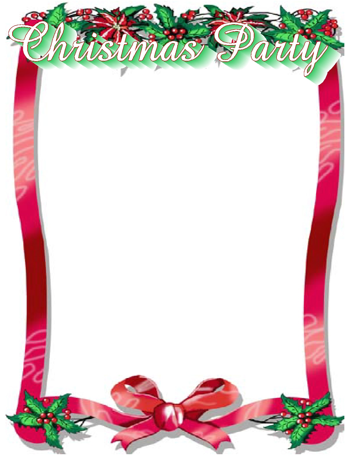 1199x1574 Christmas Party Border Clip Art