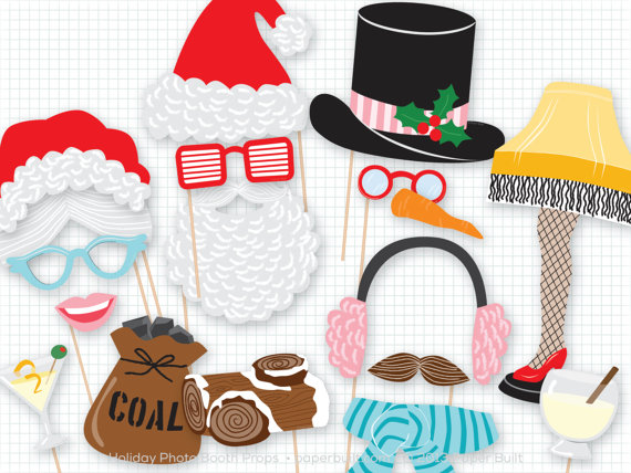 570x428 Christmas Photo Booth Props Christmas Photobooth Props
