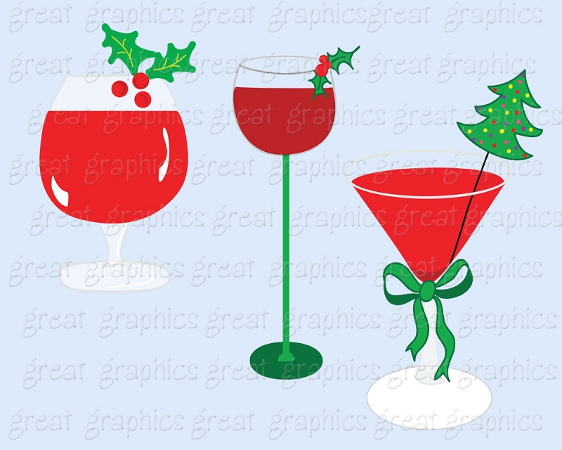 800x640 christmas party cocktail clipart - Christmas Party Clipart