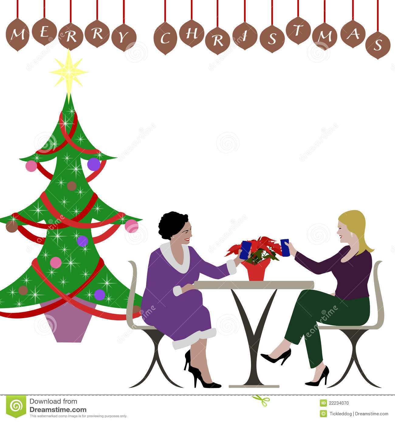 1300x1390 ladies christmas party clipart