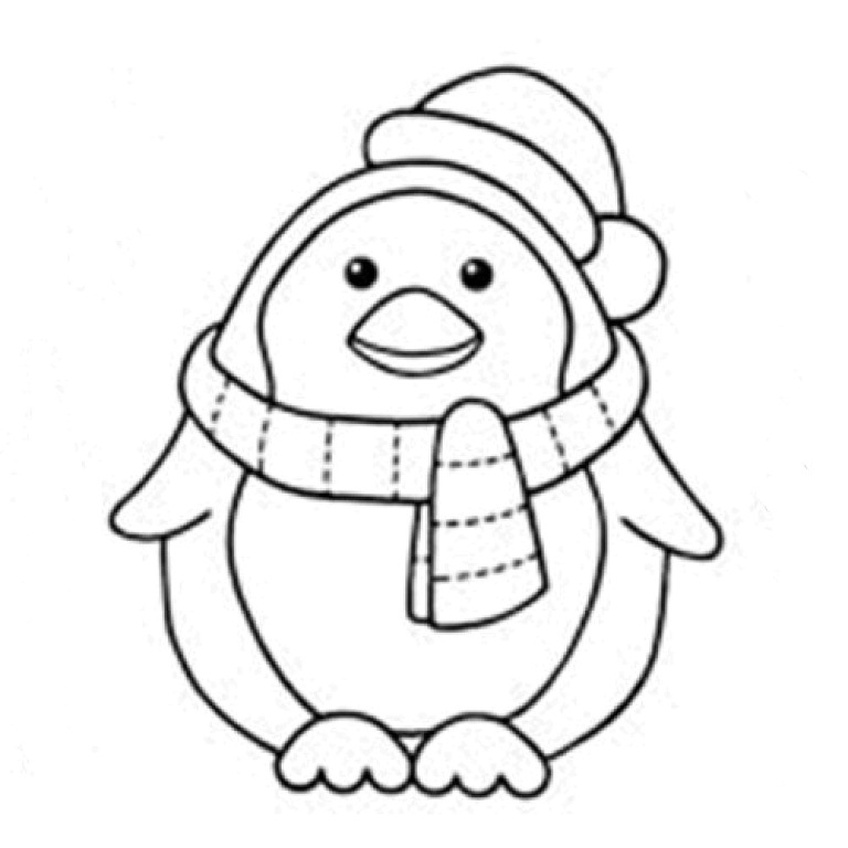 768x768 Penguin Coloring Pages 11