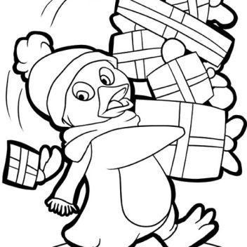 Christmas Penguin Coloring Pages | Free download on ClipArtMag