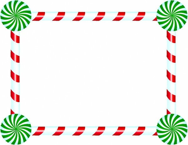 Christmas Picture Frame Clipart