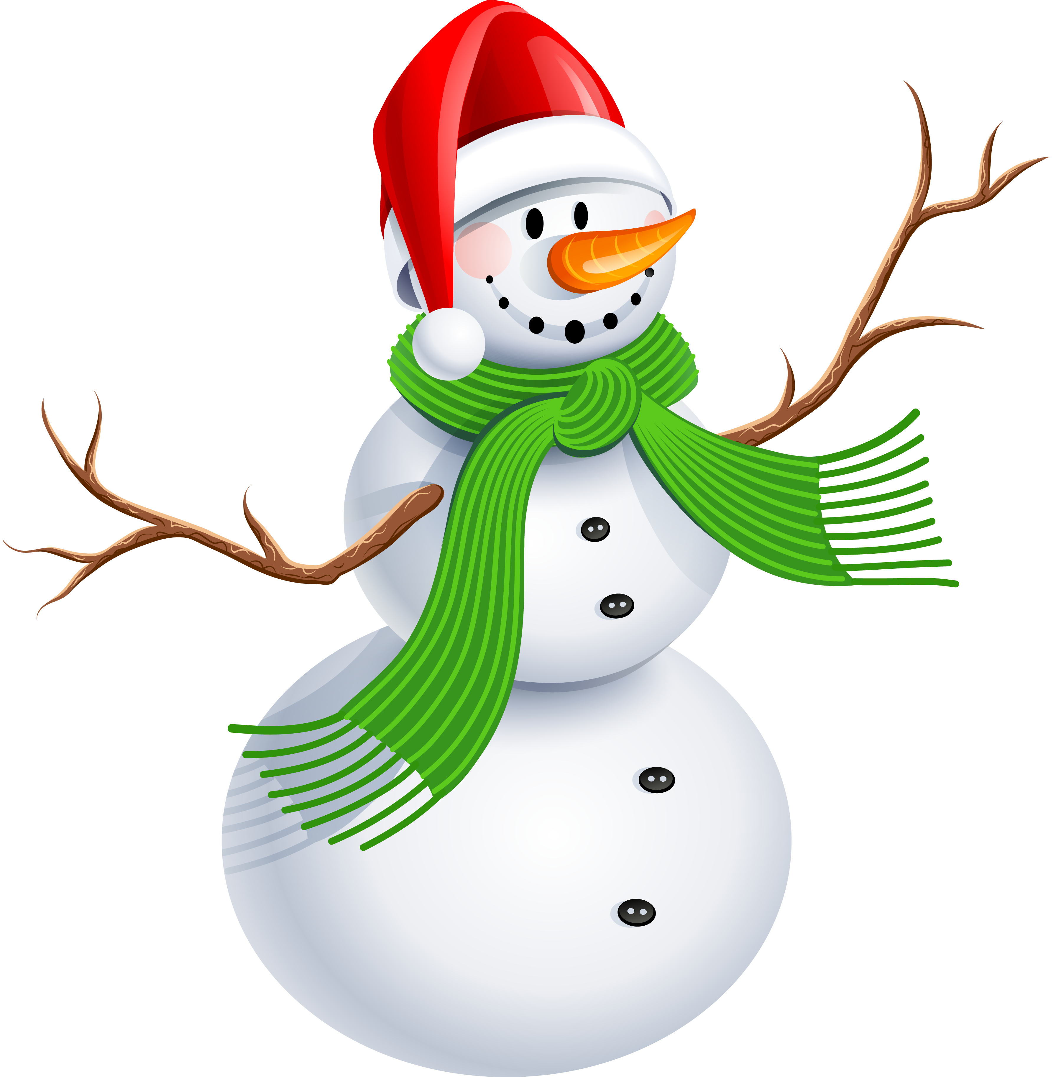 3581x3651 Christmas Snowman Clip Art