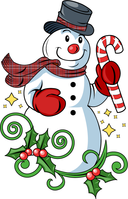 493x765 Clipartfort Holidays Christmas Snowman Color Candy Cane