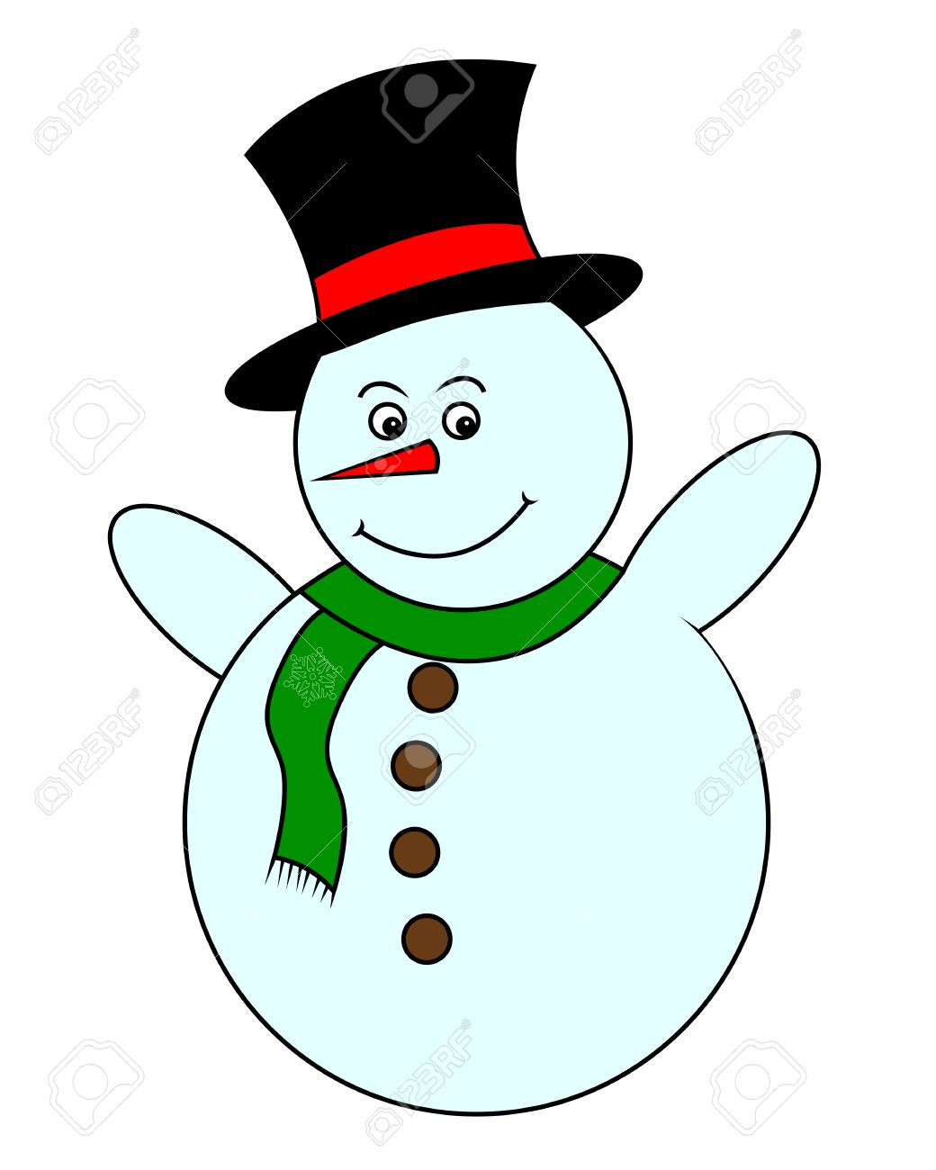 1040x1300 Drawing Christmas Snowman In Black Hatnd Green Scarf On