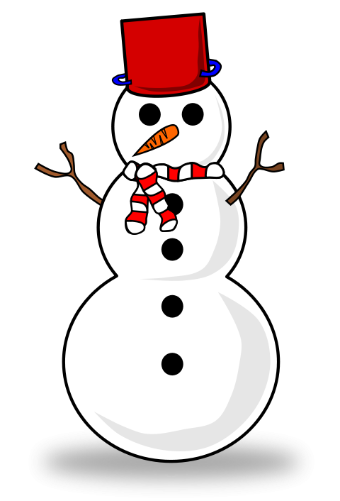 480x706 Large Free Snowman Clipart