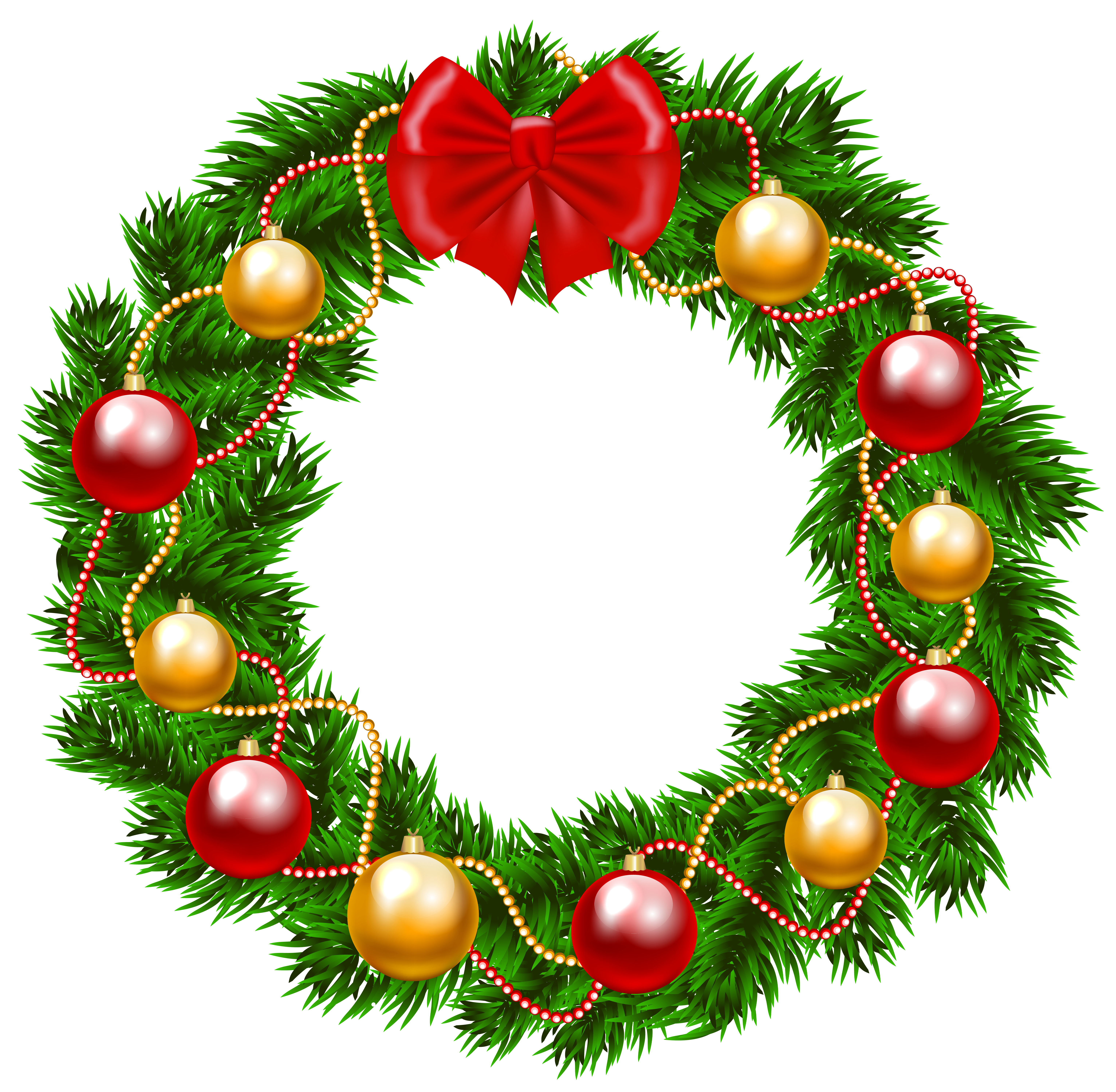 6129x5999 Christmas Wreath Png Clipart Imageu200b Gallery Yopriceville