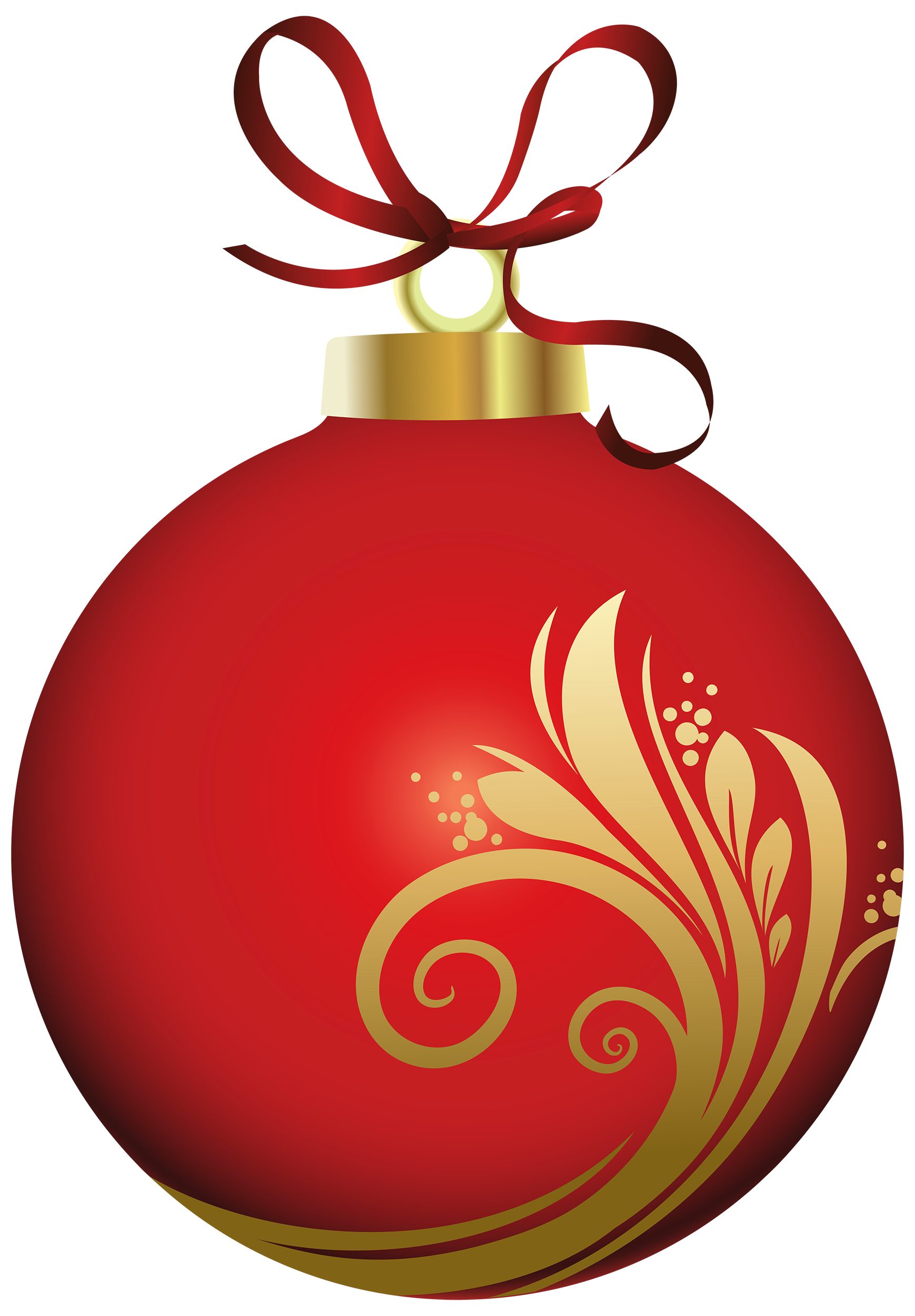1738x2500 Red Christmas Ball With Decoration Png Clipart