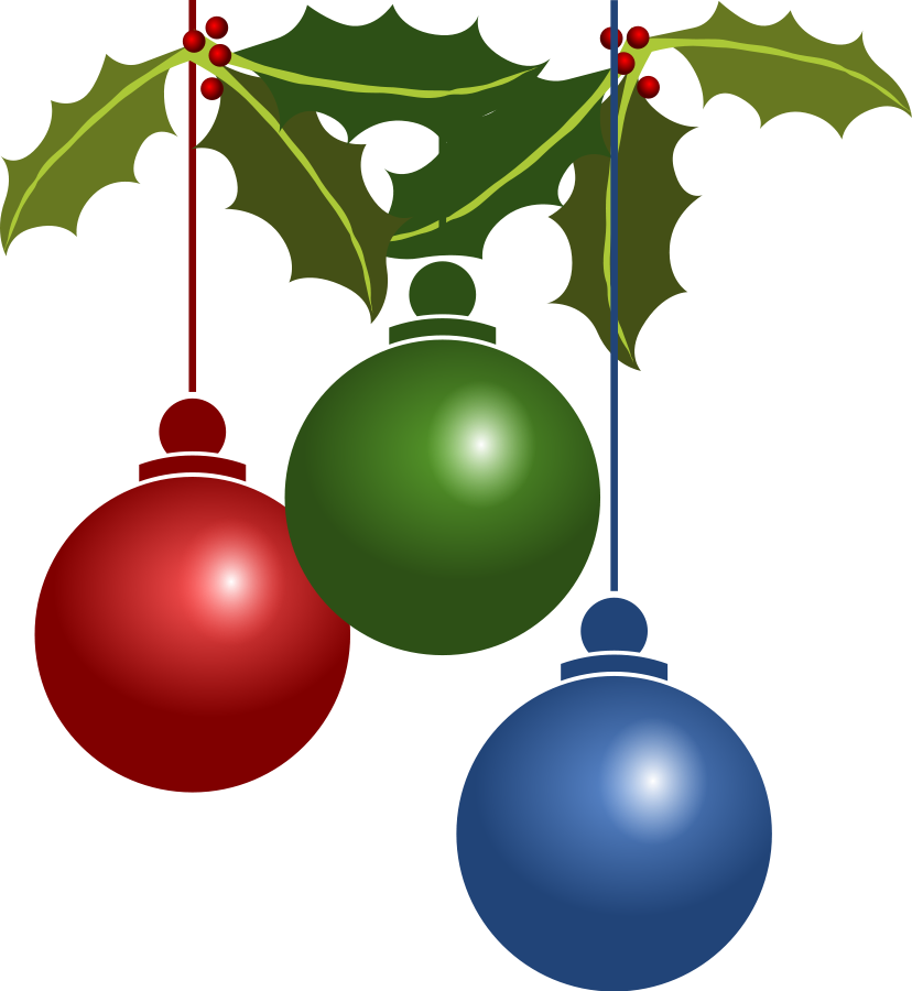 828x900 Free Christmas Png Clipart