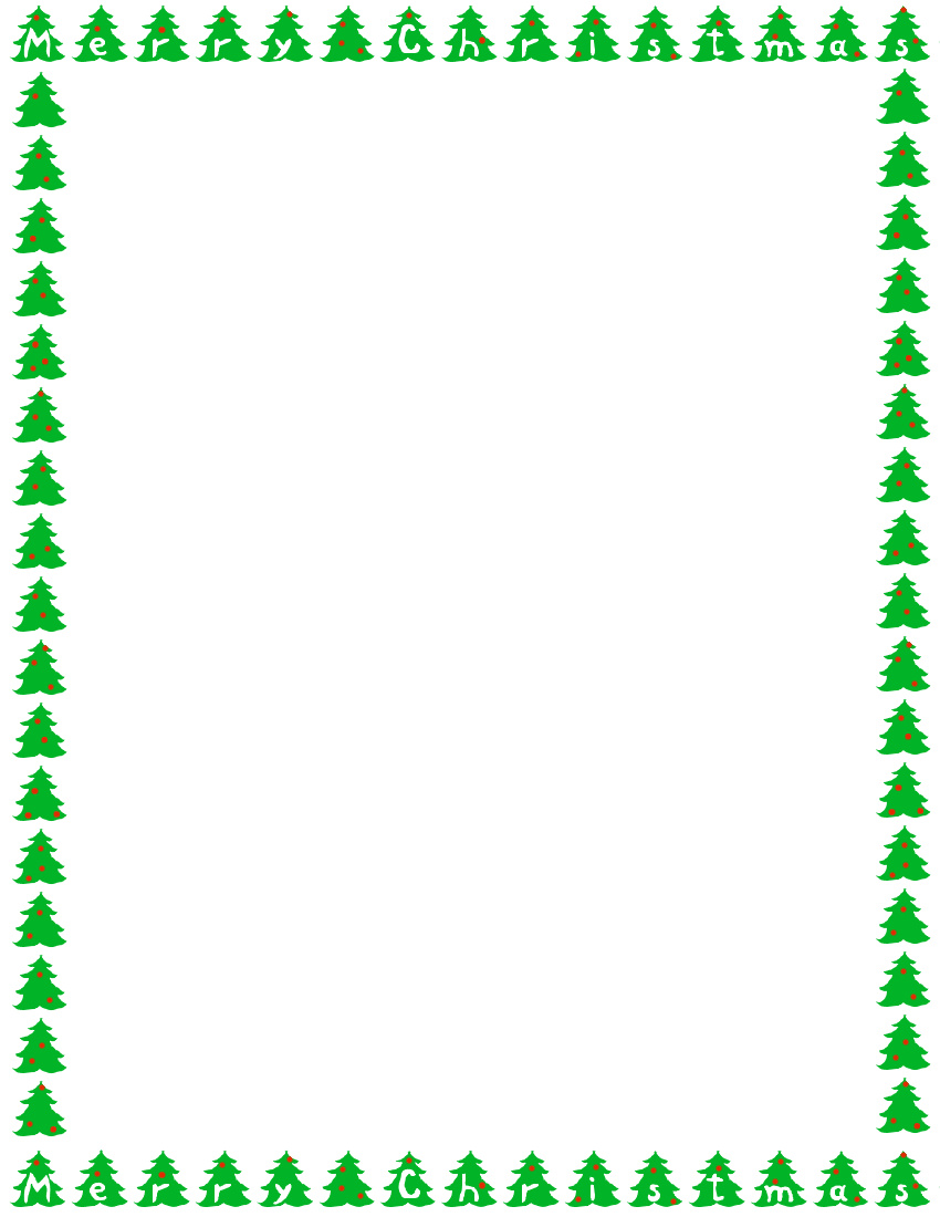 850x1100 Free Clipart Christmas Page Borders