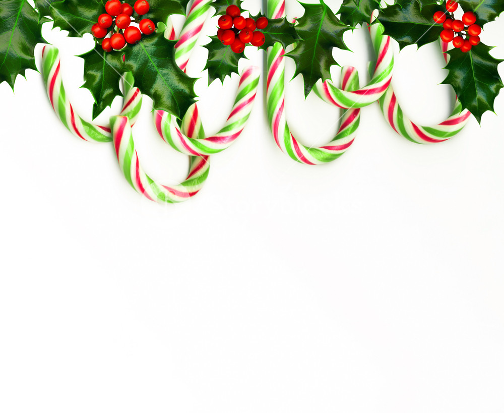 1000x819 Christmas Border With Candy Canes Isolated On White Background