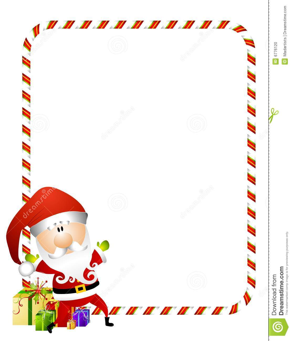 1112x1300 Gifts Santa Claus Border Merry Christmas Amp Happy New Year Arts