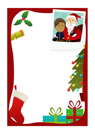 318x450 Letter To Santa Border For Christmas Fun For Christmas