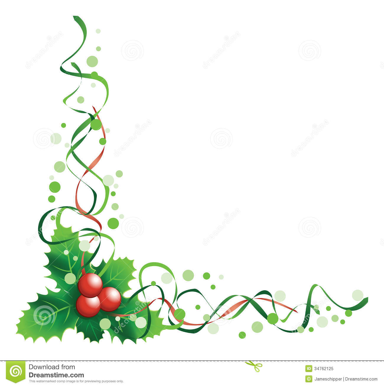 1300x1313 Christmas Ornament Corner Borders Happy Holidays!