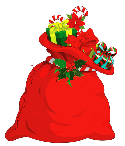 515x600 Christmas Santa Bag Png Picture Christmas Clipart