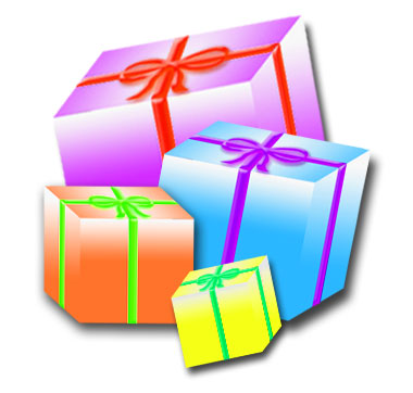 380x362 Christmas Present Clip Art