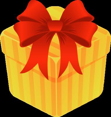 378x400 Gift Box Clipart
