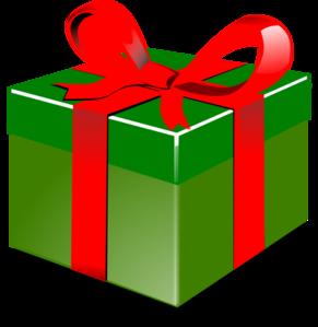 291x299 Green Present Clip Art