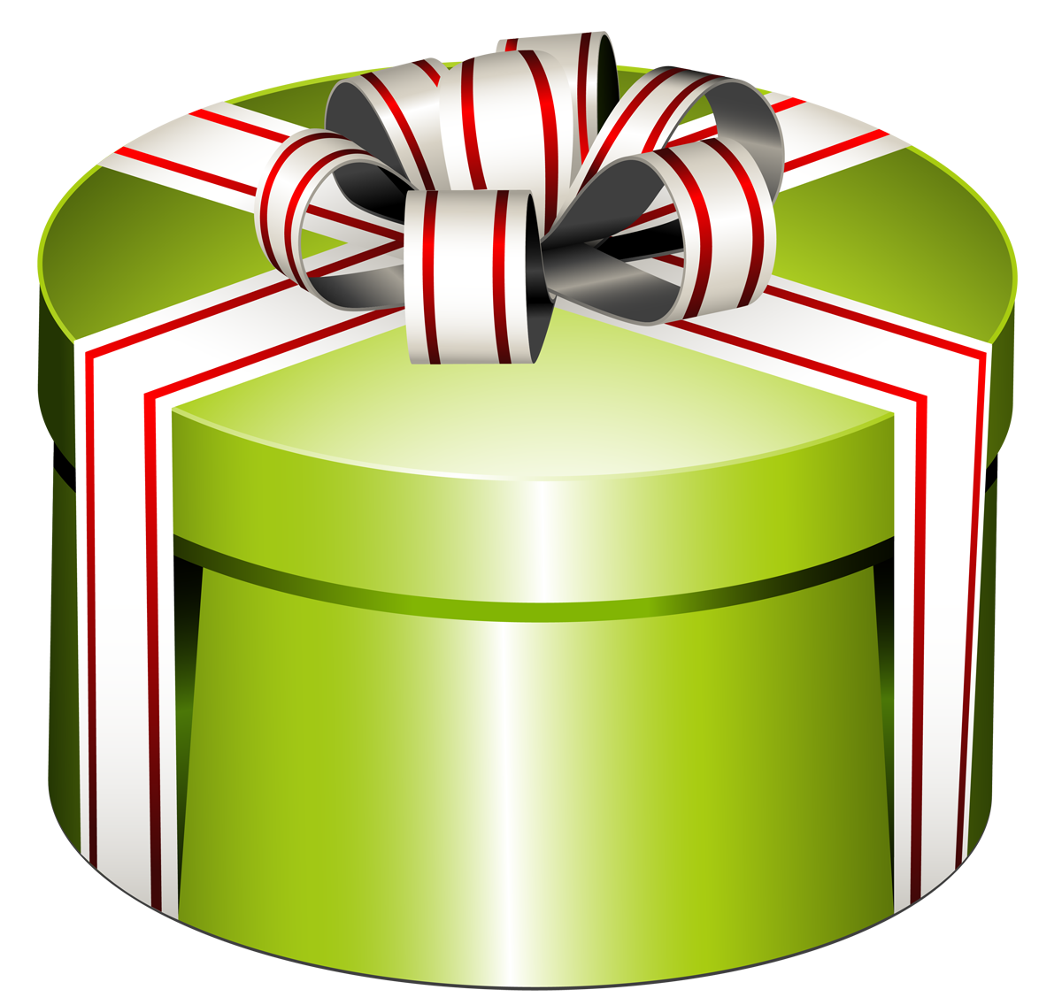 1200x1136 Green Round Present Box With Bow Png Clipartu200b Gallery
