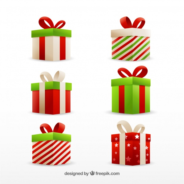 626x626 Set Of Christmas Gift Boxes Vector Free Download