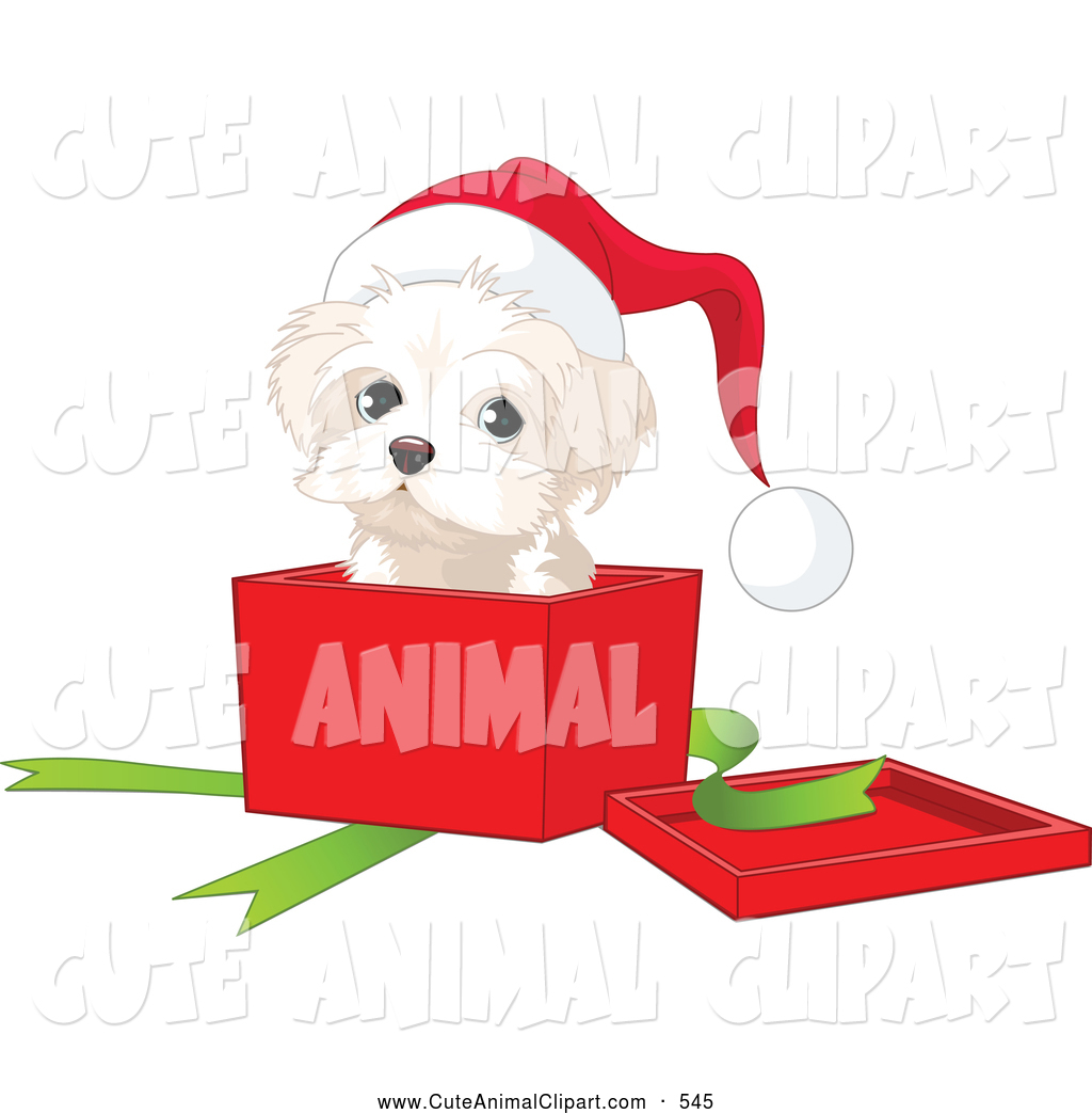1024x1044 Vector Clip Art Of A Puppy Sitting In A Christmas Gift Box By